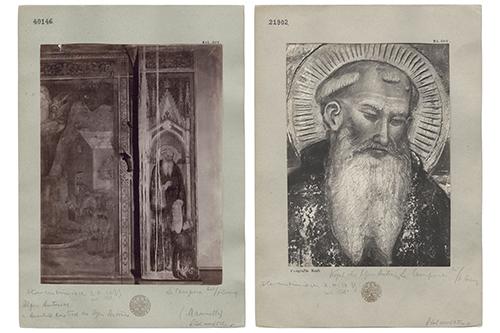 Florenz, Villa Le Campora, Freskenzyklus - Historische Fotokartons. Aufnahmen: Fotograf unbekannt, 1916