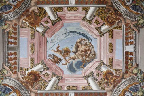 Hannover, Schloss Herrenhausen, Galeriegebäude, Deckenbild im Winterzimmer. Aufnahme: Thomas Scheidt 2016