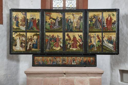 Mittelalterliche Retabel in Hessen