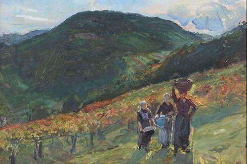 Max Slevogt, Weinlese am Hämmelsberg. Aufnahme: Bildarchiv Saarlandmuseum / Raphael Maaß