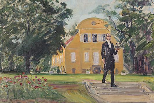 Max Slevogt, Diener auf der Terrasse von Neu-Cladow. Aufnahme: Bildarchiv Saarlandmuseum / Raphael Maaß
