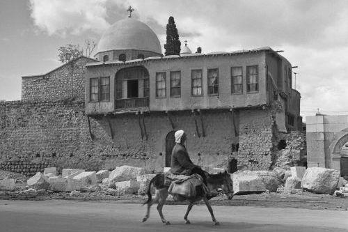 Damaskus, Bab Sharki, Sankt Sergius Kirche (Sarkis Kathedrale). Aufnahme: Bildarchiv Foto Marburg / Walter Schröder, 1950/1971