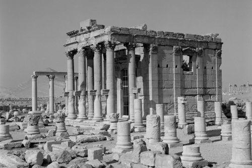 Palmyra, Baal-Shamin-Tempel, von Nordosten. Aufnahme: Bildarchiv Foto Marburg / Paul Haag, 1985