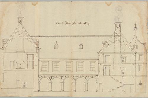 Emanuel Brand (zugeschr.): Kleinern, Schloss Christiansburg, um 1662. Aufnahme: Hessisches Staatsarchiv Marburg, 2017