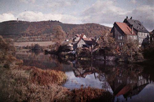 Marburg, Lingelgasse. Blick von der Weidenhäuser Brücke Richtung Spiegelslustturm. Aufnahme: Georg Mylius, 1911