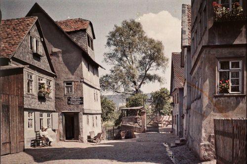Marburg, Lingelgasse. Aufnahme: Georg Mylius, 1911