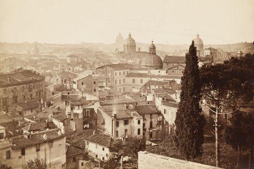 Rom, Panorama-Ansicht, Blick vom Kapitol nach Nordwesten. Aufnahme: unbekannt, 1860/1865